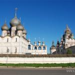 Кремль Ростов Великий, панорама с Успенским собором