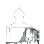 Рюриково Городище, церковь Благовещения, разрез