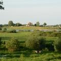 Вид на Рюриково Городище с противоположного берега р. Волхов