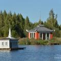 Усадьба Степановское-Волосово, восточная беседка и птичий павильон