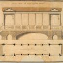 Копия неиз. художника XVIII в. с проекта В.И. Неёлова. Мраморный мост в Царском Селе