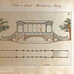 Неиз. художник. Мраморный мост в Царском Селе. Чертеж фасада и плана. После 1826 г.