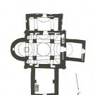 Церковь Спаса Преображения на Ковалеве, план на уровне входов
