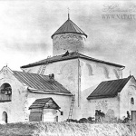Церковь Спаса Преображения на Ковалеве, фото 1917 г.