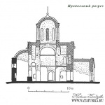 Церковь Спаса Преображения на Ковалеве, разрез