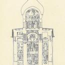 Церковь Спаса Преображения на Нередице, разрез