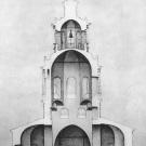 Усадьба Уборы. Спасская церковь, разрез