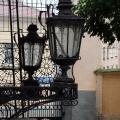 Усадьба Золотарева в Калуге, крыльцо с фонарями