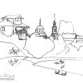 Вид Ахтырки. Рис. В.В. Кандинского. НМСИ. Центр Ж. Помпиду, Париж