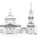 Проект северного фасада церкви Во имя Ахтырской иконы Божией Матери. Арх. А.С. Кутепов, 1823 г.