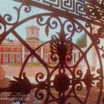 Усадьба Архангельское, вид на дворец от парадных ворот