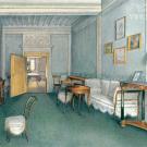 Усадьба белая Колпь. Интерьер жилой комнаты в усадебном доме. 1850-е гг. Неизвестный художник