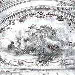 Усадьба Быково, дворец, падуга свода ванной комнаты. 1977 г.