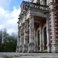 Усадьба Быково, портик кариатид со стороны парка