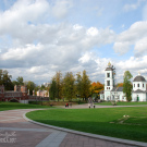 Усадьба Царицыно, панорама с церковью
