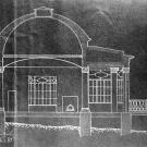 Усадьба Горки Ленинские. Церковь, разрез (не сохранилась)