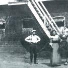 Усадьба Горки Ленинские конюшня. Фото нач. XX в. из архива Герасимовых
