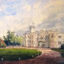 Гостилицы. Дворец. В. Садовников, акварель, 1857 г.