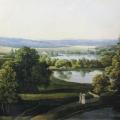 Гостилицы. Вид от колокольни на парк. Неизвестный художник, акварель, 1801 г.
