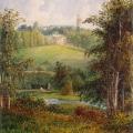 Пейзаж в имении Гостилицы под Петербургом, акварель