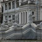 Усадьба Грачевка, главный дом, фрагмент парадного фасада