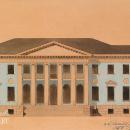 Иван Фомин. Проект фасада главного дома в имении А.Г. Гагарина «Холомки», 1912 г.