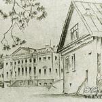 Дом в Холомках. Художник М.В. Добужинский, 1921 г.