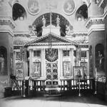 Усадьба Хворостьево, иконостас Троицкой церкви. Фото Н.Д. Бертрама