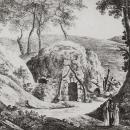 Вид грота в усадьбе Ильинское. Литография К.П. Беггрова, 1820-е гг. ГИМ