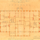 Дворец в Ильинском. План первого этажа. Архитектор Ф.Ф. Рихтер. 1864, РГИА