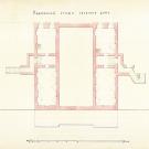 Дворец в Ильинском. План подвального этажа. Архитектор Ф.Ф. Рихтер.1866, РГИА