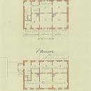 Приют для приятелей. Планы 1-го и 2-го этажей. Архитектор А.И. Резанов, 1866, РГИА