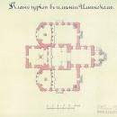 Церковь в Ильинском, после реконструкции 1820-х гг, План 1866 г. РГИА