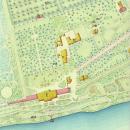 Фрагмент генерального плана усадьбы Ильинское, 1866, РГИА