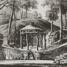 Вид руины под колодцем с каскадом в Ильинском. Литография К.П. Беггрова, 1820-е гг. ГИМ