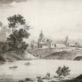 Вид оранжереи в усадьбе Ильинское. Литография К.П. Беггрова, 1820-е гг. ГИМ