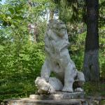 Усадьба Ивановское, Голубые озера, лев, украшающий парковую лестницу