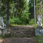 Усадьба Ивановское, Голубые озера, парковая лестница со львами