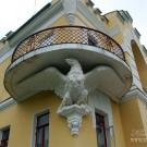 Усадьба Кирицы, консоль в виде орла, поддерживающая балкон