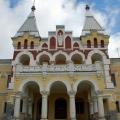 Усадьба Кирицы, дворец (центральная часть паркового фасада)