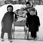 Дети Александра Крафта. Слева направо: Александр, Вера, Ольга, Георгий