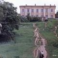 Усадьба Кунцево Нарышкиных. Слева видна статуя Похищение Прозерпины Плутоном. Фото 1980-е гг.