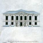 Усадьба Кусково, фасад театра. П. Орденов, В. Оконников, конец XVIII в.