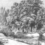 Усадьба Кузьминки. Вид парка с двумя мостиками