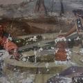 Усадьба Ламишино Казанская церковь, фрагмент росписи в притворе