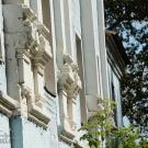 Усадьба Лапино, главный дом. Фрагмент декоративного убранства экстерьера