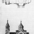 Усадьба Лисино-Корпус, церковь (план и фасад)