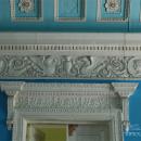 Усадьба Мамоново Гусева полоса, фрагмент фриза парадного зала и очелье на кронштейнах над дверным проемом