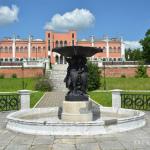 Усадьба Марфино дворец и фонтан