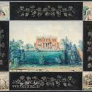 Вид главного дома и отдельных построек усадьбы Митино. Неизвестный художник. 1840-е гг.